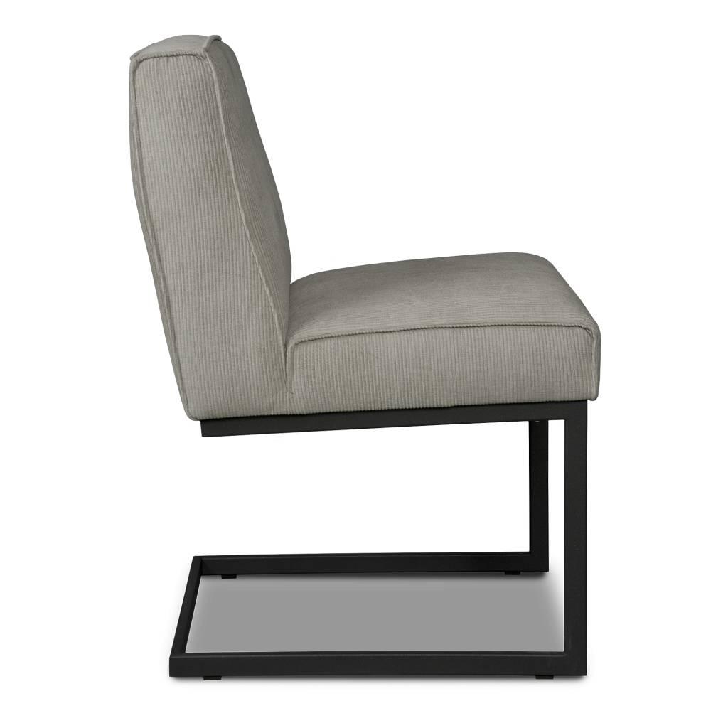 i sofa eetkamerstoel liv grijs textiel 65x54x86cm. Black Bedroom Furniture Sets. Home Design Ideas
