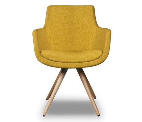 I-Sofa Dining Chair Espen gelb Textil 59x59x83cm