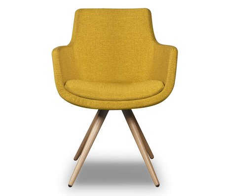I-Sofa Dining Chair Espen yellow textile 59x59x83cm
