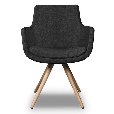 I-Sofa Chaise Espen textile noir 59x59x83cm
