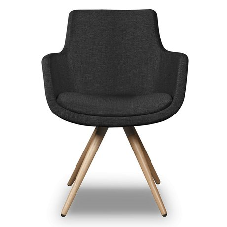 I-Sofa Dining Chair Espen black textile 59x59x83cm