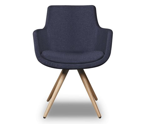 I-Sofa Dining Chair Espen blue textile 59x59x83cm