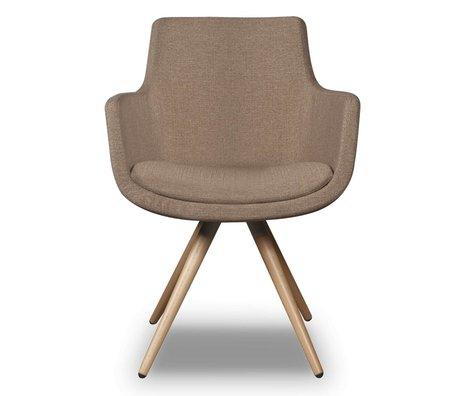 I-Sofa Dining Chair Espen beige brown textile 59x59x83cm
