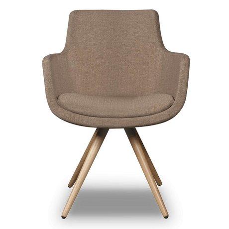 I-Sofa Eetkamerstoel Espen beige bruin textiel 59x59x83cm