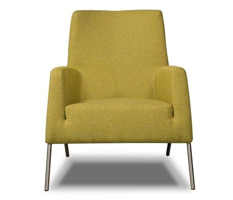 I-Sofa Armchair Mila lime green textile 77x73x88cm