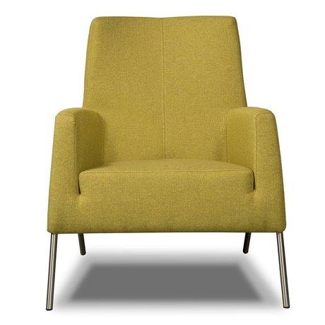 I-Sofa Fauteuil chaux Mila textile vert 77x73x88cm