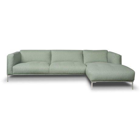 I-Sofa Corner sofas Oliver mint green textile 296x85x74cm