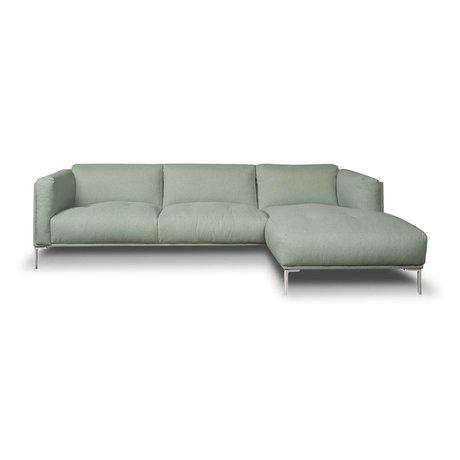 I-Sofa Ecksofas Oliver mintgrün Textil 251x85x74cm
