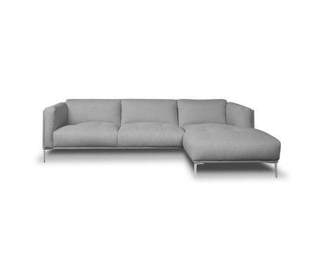 I-Sofa Corner sofas Oliver gray textile 251x85x74cm