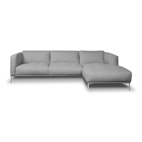 I-Sofa Ecksofas Oliver Grau Textil 251x85x74cm