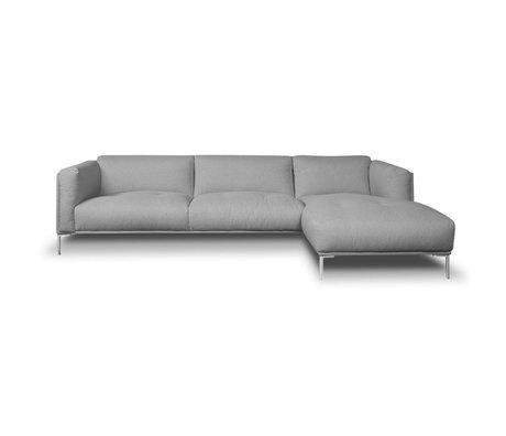 I-Sofa Corner sofas Oliver gray textile 296x85x74cm