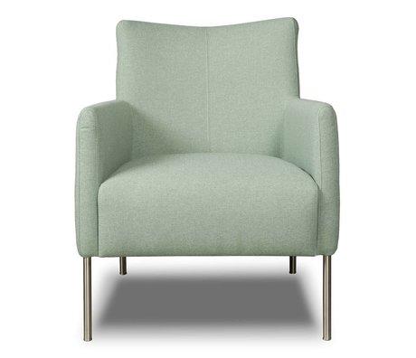 I-Sofa Armchair Nora mint green textile 77x67x79cm