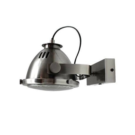LEF collections Wall lamp Tuk Tuk antique silver gray metal 26x18x20cm