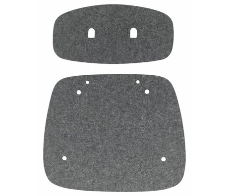 Tristan Frencken Zitpad Are Skin Lounge Anthracite gray wool felt 47,5x55x5cm