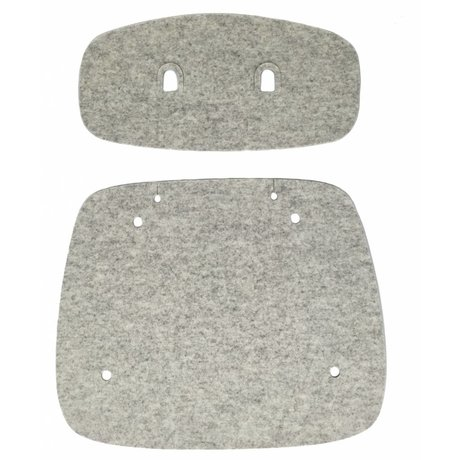 Tristan Frencken Zitpad Are Skin Lounge Marble gray wool felt 47,5x55x5cm