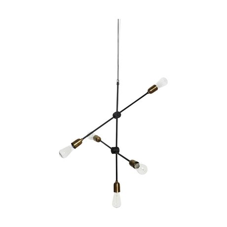 Housedoctor Hanglamp Molecular zwart goud metaal 78x68cm