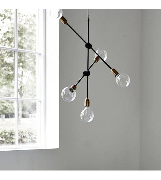 Housedoctor hanglamp molecular zwart goud metaal 78x68cm for House doctor molecular hanglamp