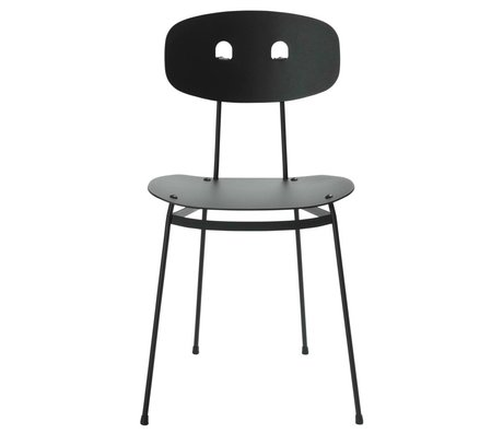 Tristan Frencken Dining chair Dining Are Coal black aluminum 45x38x84,5cm