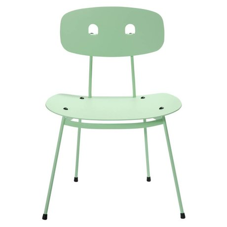 Tristan Frencken Lounge Chair Bent lounge mint green aluminum 69x55x47,5cm