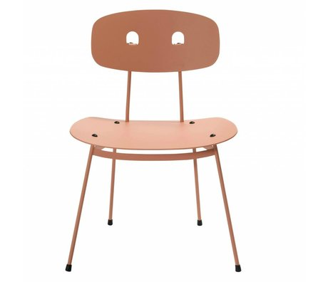 Tristan Frencken Lounge Chair Bent Lounge Blush Pink Aluminium 69x55x47,5cm