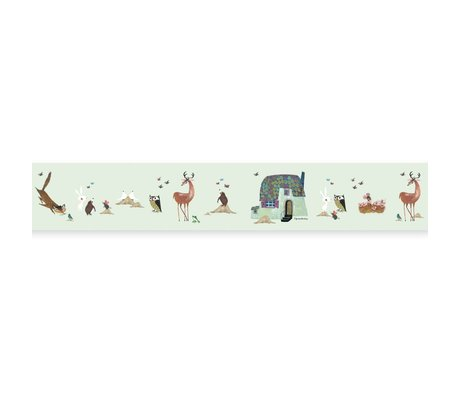 KEK Amsterdam Bra Grand Fiep Westendorp Forest Animals green 16x500cm