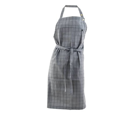 Nicolas Vahe Cooking Apron gray cotton