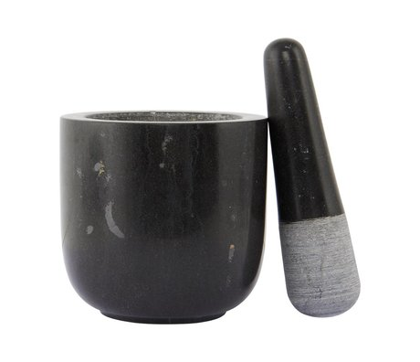 Nicolas Vahe Marble marbre noir mortier ø12x11,5
