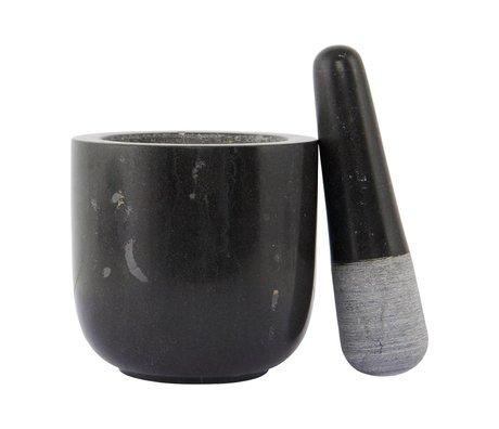 Nicolas Vahe Marmor aus schwarzem Marmor Mörtel ø12x11,5