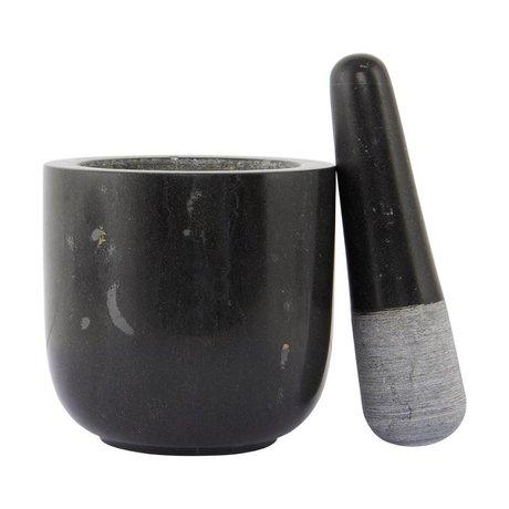 Nicolas Vahe Vijzel Marble zwart marmer ø12x11,5