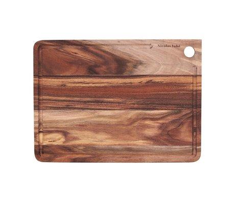 Nicolas Vahe Snijplank bruin hout 28x38x1,5cm