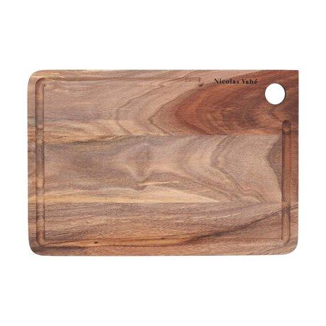 Nicolas Vahe Snijplank bruin hout 22x32x1,5cm