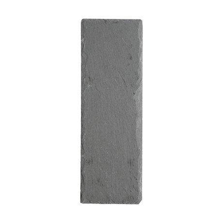 Nicolas Vahe Blackboard slate gray 30x10x0,8cm (set of 6)