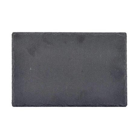 Nicolas Vahe Bord grijs leisteen 28x18x0,8cm (set van 6)