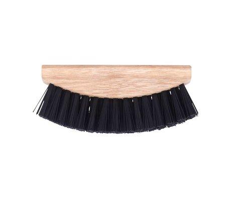 Nicolas Vahe Groenteborstel bruin hout plastic 5x13,5cm