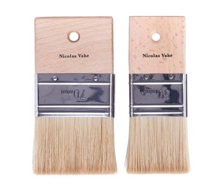 Nicolas Vahe Kitchen Brush set brown wood bristle