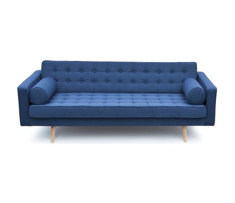I-Sofa Milan bench blue textile wood 200x90x73cm