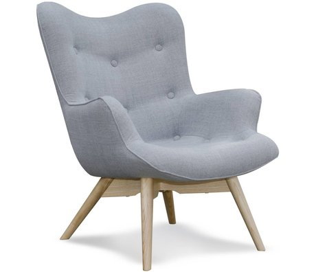 I-Sofa Armchair Vida gray textile timber 84x71x88cm