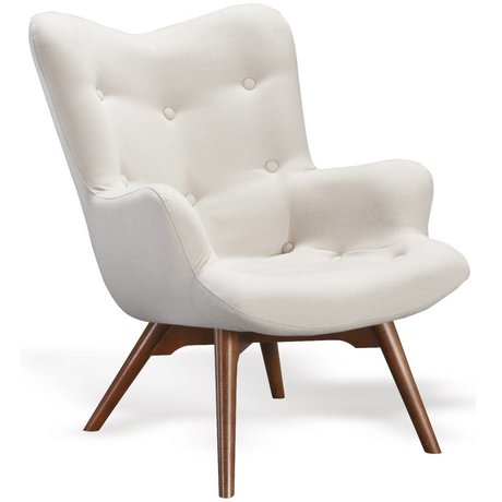 I-Sofa Armchair Vida cream white textile timber 84x71x88cm