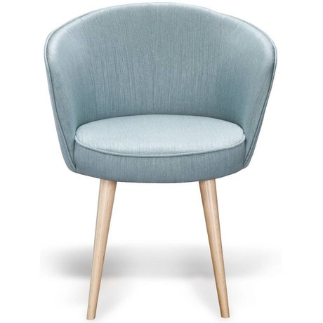 I-Sofa Armchair Olle turquoise blue fabric timber 62x58x75cm