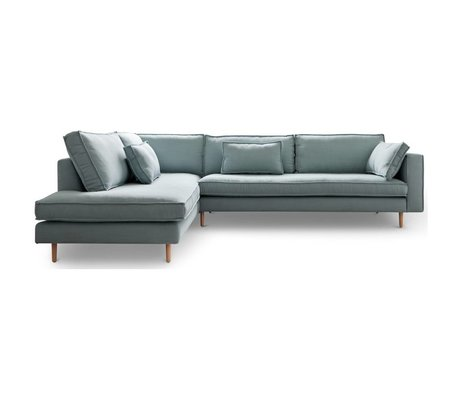 I-Sofa Corner sofas left Sara light blue textile wood 290x219x65cm