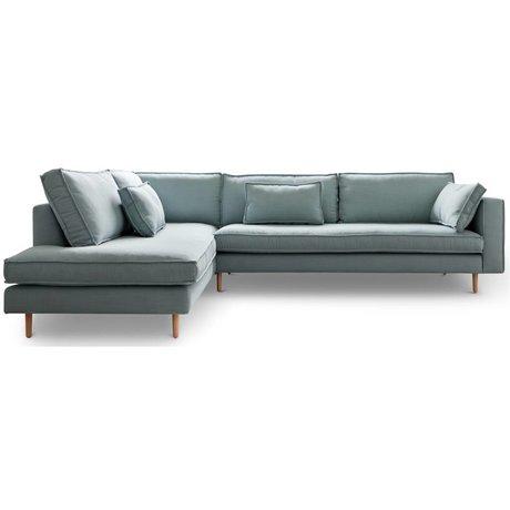 I-Sofa Ecksofas links Sara hellblau Textil-Holz 290x219x65cm