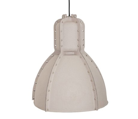 Anne Lighting Pulp Fiction pendant light gray brown cardboard ø42x49cm