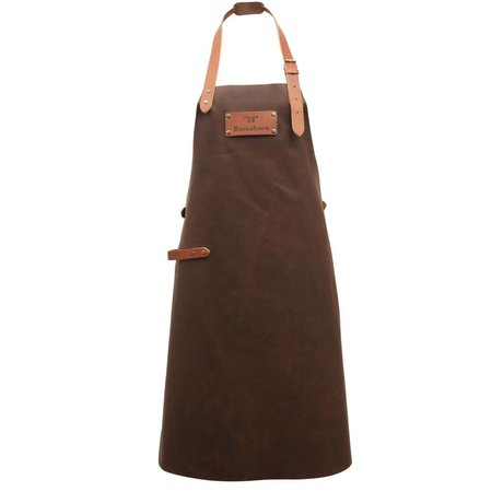 Ramshorn Apron Casual brown leather