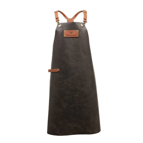 Ramshorn Apron Casual Cross black leather