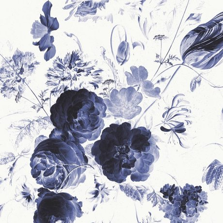 KEK Amsterdam Behang Royal Blue Flowers I multicolor vliespapier 389,6x280cm