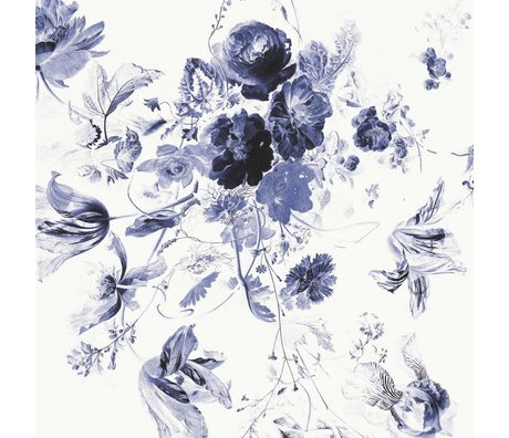 KEK Amsterdam Wallpaper Royal Blue Flowers III multicolor paper web 389,6x280cm