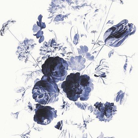 KEK Amsterdam Fond d'écran bleu royal Fleurs I papier multicolore web 292,2x280cm