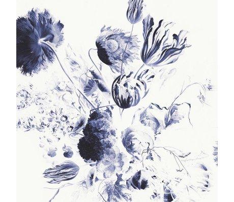 KEK Amsterdam Fond d'écran bleu royal fleurs II multicolore papier web 292,2x280cm