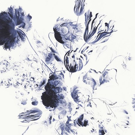 KEK Amsterdam Tapete Royal Blue Flowers II Mehrfarbenpapierbahn 292,2x280cm