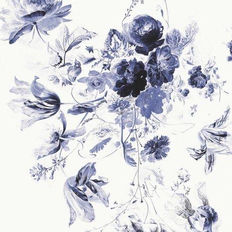 KEK Amsterdam Wallpaper Royal Blue Flowers III multicolor paper web 292,2x280cm